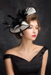 Chapeau de mariage noir et blanc
