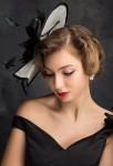 chapeau cérémonie femme noir & blanc