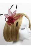 Bibis chapeau en couleur bordeaux pour mariage