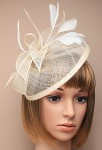 Bibi petit chapeau pour cérémonie - Beige