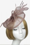 Bibi petit chapeau pour mariage - Taupe