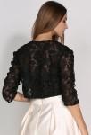 Petite veste noir manches 3/4 en dentelle