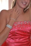Lot de 7 bracelets extensibles en strass