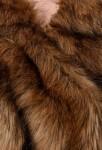 Cape pour femme fourrure marron - zoom