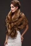 Cape pour femme fourrure cérémonie vintage