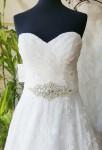 Ceinture strass pour robe de mariée