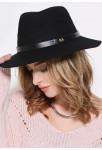 Chapeau pour femme en forme Fédora noir