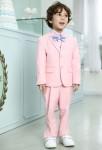 Costume garçon rose pastel