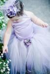 Robe de cortège enfant couleur lavande