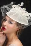 Voilette chapeau mariée ivoire