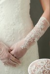 Gants de mariée transparent niveau coude