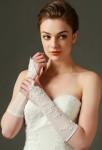gants de mariée ivoire transparent broderie