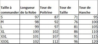 Guide des taille