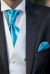 Lavallière homme mariage turquoise