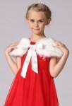 Cape enfant en imitation fourrure  - blanc