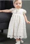 Robe de baptême bébé tout en dentelle