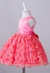 Robe bébé rouge pastèque fleurs 3D
