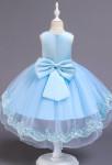 Robe de mariage enfant bleu pastel asymétrique