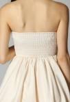 babydoll robe courte féérique sans bretelles pour mariage