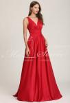 Robe longue fluide rouge à bretelles