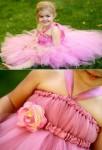 robe rose volumineuse