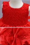 Robe rouge bébé fille réf EF8019 - zoom