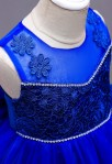 Robe de cortège bleu roi zoom bustier