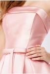 Robe de soirée rose pastel - détail