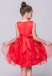 Robe de cortège enfant rouge à volants