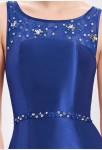 Robe de cérémonie bleue saphir sirène longue - zoom