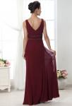 robe de soirée longue décolleté au dos
