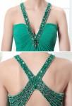Robe longue en vert émeraude - détail