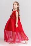 robe de cérémonie enfant - rouge