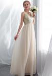 robe de cérémonie scintillante bretelles simple