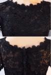 Robe de soirée noir - dentelle