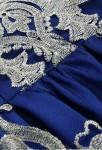 Robe de soirée bleu saphir