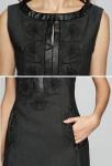 Robe tailleur noir - détail