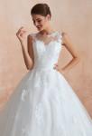 robe de mariée joli bustier cœur évasée