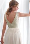 robe de mariage scintillante bretelles dos décolleté
