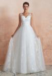 Robe de mariée évasée tout en dentelle