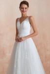 Robe de mariée bohème chic taille cintrée