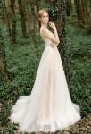 Robe de mariée dos nu fluide