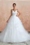 robe de mariée à volants à bretelles