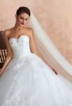 Robe de mariée bustier cœur évasée