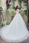 Robe de mariée simple bustier cœur - réf 30263 - traîne