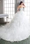 Robe de mariée conte de féé avec traîne
