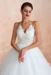 Robe de mariée bustier en dentelle transparent