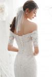 robe de mariée ceintrée taille lacet