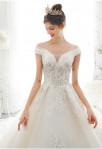 Robe de mariée manches fines bustier coeur