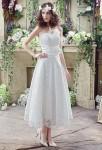 Robe de mariée mi-longue en dentelle bustier
